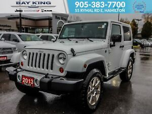 2013 Jeep Wrangler 4X4, GPS, LEATHER HEATED BUCKET SEATS, TRADE-