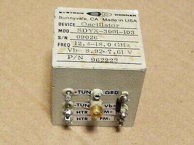 Systron Donner Sdyx-3001-103 962223 Rf Microwave 12.4-18ghz Yig Oscillator 9026