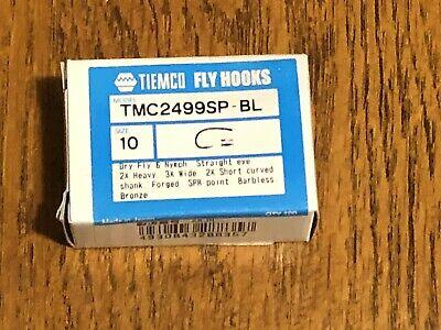 Tiemco TMC2499SP-BLB Fly Tying Hooks Barbless Black Super Point