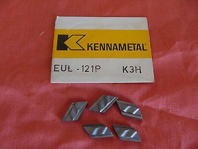 New Old Stock Kennametal Eul-121p Carbide Profiling Inserts K3h Npl132f Lot 5