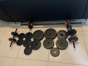 Weights and dumbbells & barbell these are immaculate and like new