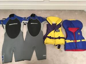 PFD buoy o boy life jacket and Seadoo wet suit