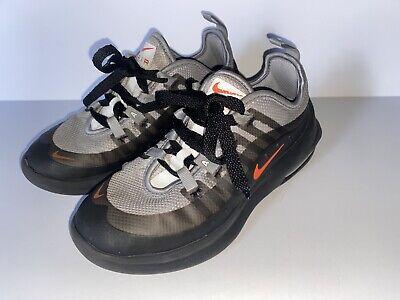 Nike Air Max Axis Running Shoes Youth Sz 1Y AH5223-003 Gray Black Orange