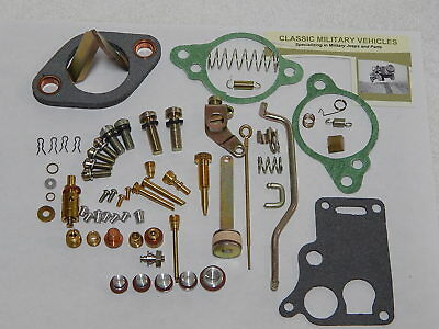 Carter WO Carburetor Master Rebuild Kit. Army Jeep Willys CJ2A MB CJ3A G503 Carb
