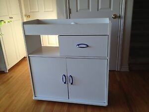 White baby change table dresser