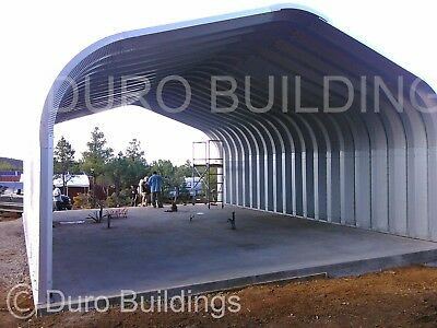 Durospan Steel 20x40x12 Metal Building Kit Carport Shed Open Ends Factory Direct