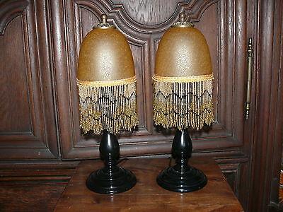 Paar Jugendstil Lampen Tischlampen Lampe Jugendstillampe kein Original