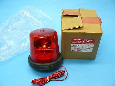 North American Signal Tr3-24r Rotating Beacon Light Permanent Mount 135 Fpm 24v
