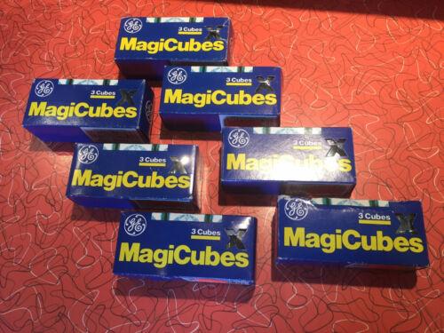 *7 Boxes / 21 Cubes* GE MAGICUBE CAMERA FLASH CUBE Type-X LATE PRODUCTION NIB