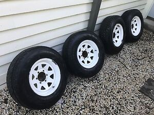 Sunraysia style wheels 7x15 with good tyres Box Hill South Whitehorse Area Preview