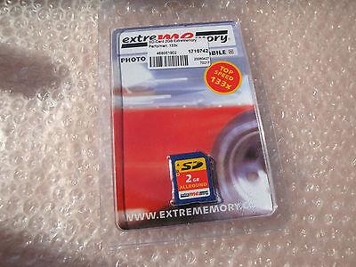 2 GB extreMemory ..hi speed 133x .. SD Memmory Card ... neu ..ovp