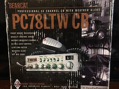 Uniden PC78LTW 40 Channel Mobile CB Radio W/ Weather NEW  Made In Philippines.