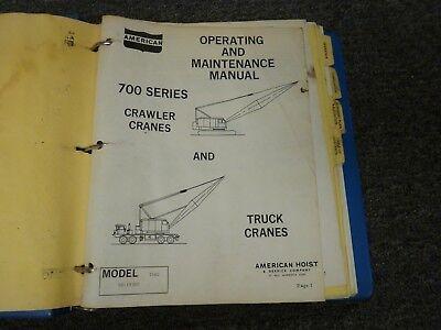 American Hoist 7460 Lattice Boom Truck Crane Operator Service Repair Manual