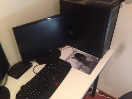Custom Gaming PC + Monitor for sale Golden Grove Tea Tree Gully Area Preview