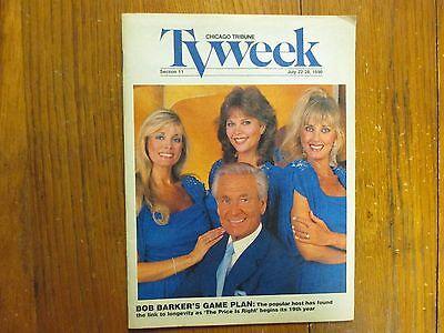 Jul 1990 Chicago Tribune Tv Week Mag Bob Barker Dian Parkinson Janice Pennington