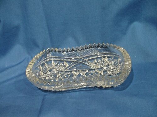 Westmoreland Old Quilt Clear Small Relish Dish