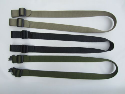 USA MADE 1.25 1 1/4 in NYLON OD Green Black Tan Rifle Silent Sling Carry Strap