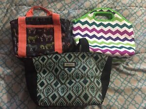 Insulated lunch bags.