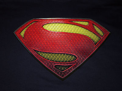 Superman Man Of Steel Logo Licensed Tv Movie Dc Comics
