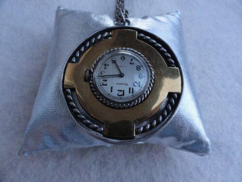 Unusual Mechanical Wind Up Vendome 17 Jewels Necklace Pendant Watch