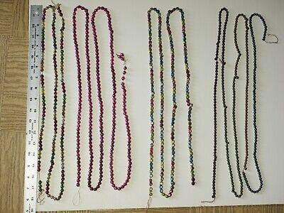 vintage mercury glass christmas garland, feather tree christmas beads