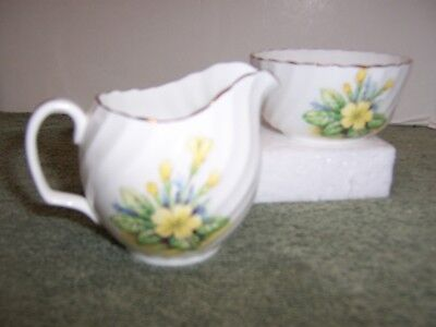 Adderley Sugar & Creamer Set yellow flowers England