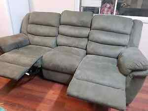 3 seater Recliner couch and 2 Recliner lounges Ashmore Gold Coast City Preview