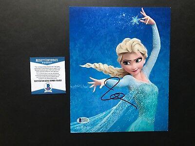 Idina Menzel Rare  Signed Autographed Elsa Frozen 8X10 Photo Beckett Bas Cert