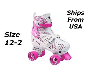 Girls Roller Derby Trac Star Adjustable Quad ROLLER SKATES - Size 12-2 for sale  Shipping to India