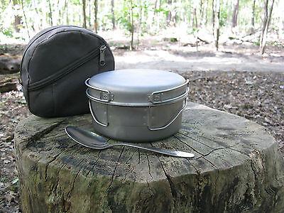 5-teiliges Camping Armee Feldgeschirr, Kochgeschirr aus Titan (Russland)