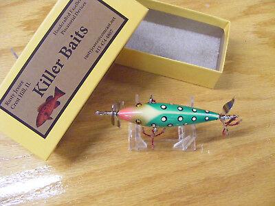 Killer Baits Rusty Jessee Heddon 100 Style Glasseye 3 Hooker in Green Lady Bug