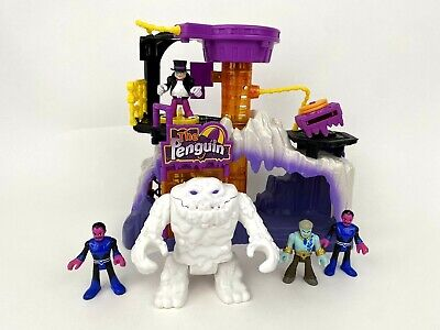 Fisher Price Imaginext DC Friends Penguin Lair Headquarters White Clayface set