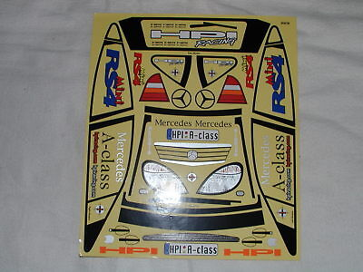 HPI 1/10 RC - Vintage - Sticker for Mercedes Class A Mini RS4 4x4 chassis  - New