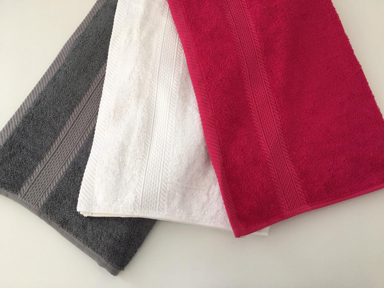 Bambus Handtuch Duschtuch Saunatuch unifarben aus Bambus mit Bordüre