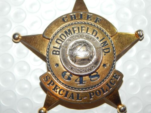 ANTIQUE BLOOMFIELD INDIANA SPECIAL POLICE  IN