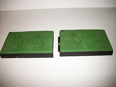 """GI Joe Figure Club 12"""" 1/6 Scale 40th Replacement Repro Grass Stands x2"""