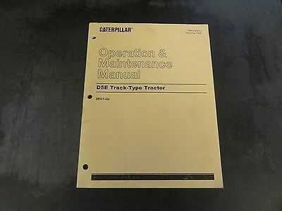 Caterpillar Cat D5e Track-type Tractor Operation And Maintenance Manual