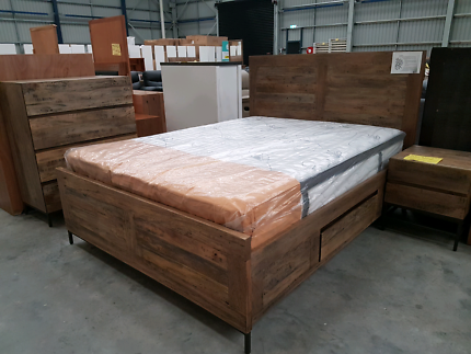 New Paddy 4 Piece Solid Mango Wood Bedroom Set