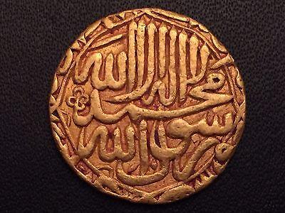 Mughal Empire  Akbar (1556-1605 AD), Gold Mohur, Delhi Mint L@@K !!!