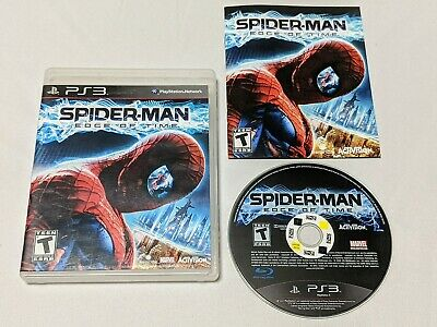 Spiderman: Edge of Time Complete for PlayStation 3 PS3 **TESTED & WORKS GREAT**