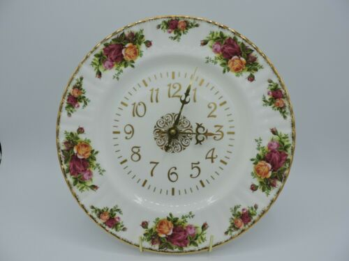 Vintage Royal Albert Old Country Roses Clock Plate