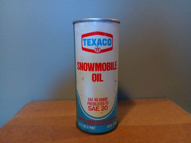 Vintage Texaco Snowmobile Oil * Unopened FULL Pint