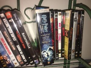 over 90 DVDs for 50 dollars
