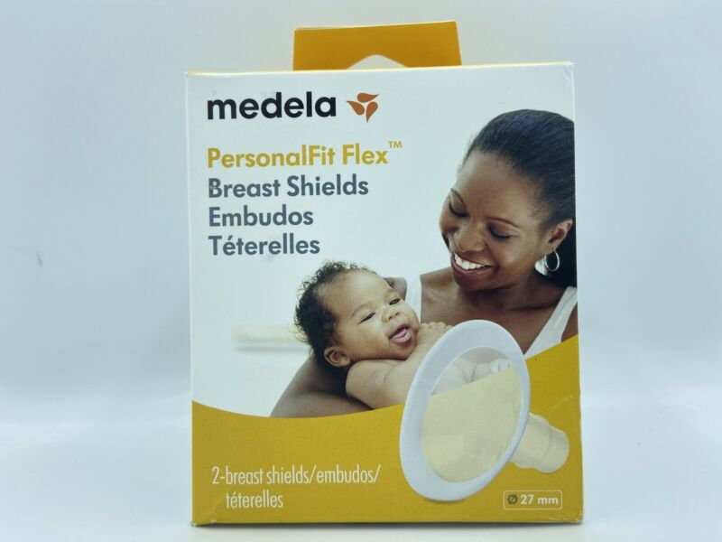 Medela Breast Shields PersonalFit Flex 27mm Pack includes 2 Breastshields Sealed