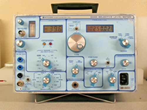 Rycom 6040 Selective Level Meter VLF/LF/MF Receiver 300Hz to 3500KHz