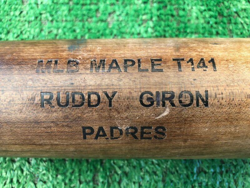 San Diego Padres Ruddy Giron Autographed Game Used Baseball Bat