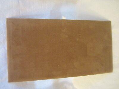 Standard Jewelry Display Pad Board Brown Velvet