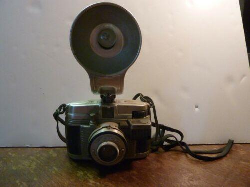 Vintage Ansco Lancer Camera w/Flash VIa Untested Art Deco Decor Sconar Lense