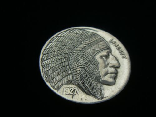 1927-P hobo nickel - INDIAN CHIEF