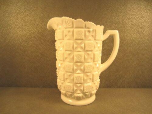Vintage Westmoreland Old Quilt Milk Glass Pitcher 40 oz. 8 1/4 tall